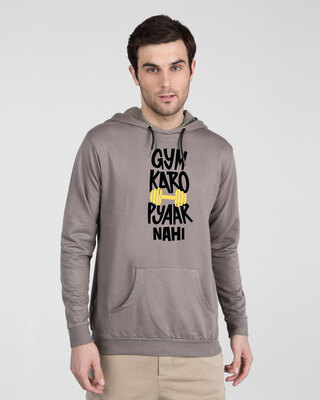 Shop Gym Karo Fleece Hoodie-Front