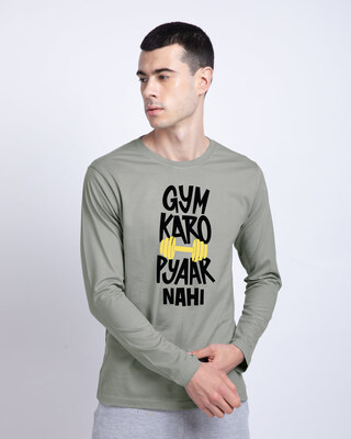 Shop Gym Karo Full Sleeve T-Shirt-Front
