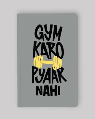 Shop Gym Karo Notebook-Front