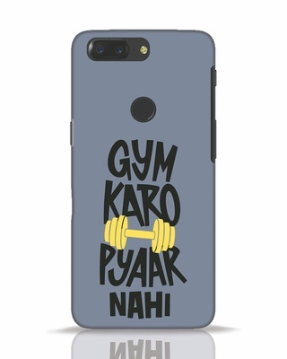 Shop Gym Karo OnePlus 5T Mobile Cover-Front