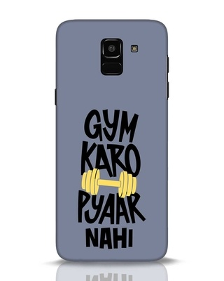 Shop Gym Karo Samsung Galaxy J6 Mobile Cover-Front