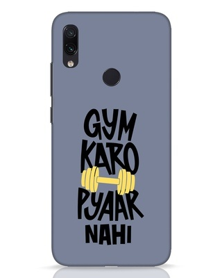 Shop Gym Karo Xiaomi Redmi Note 7 Pro Mobile Cover-Front