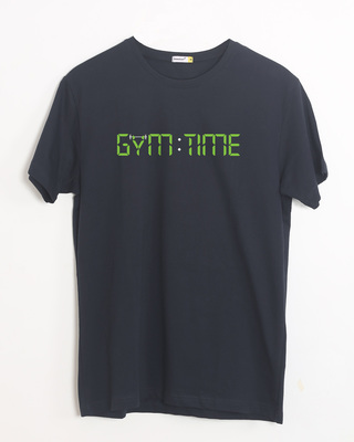 Shop Gym Time Half Sleeve T-Shirt-Front