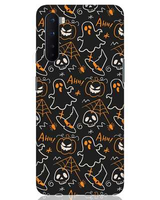 Shop Halloween Doodle OnePlus Nord Mobile Cover-Front