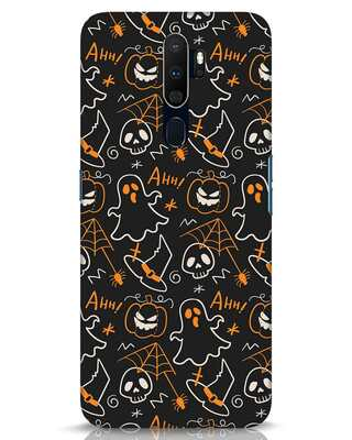 Shop Halloween Doodle Oppo A9 2020 Mobile Cover-Front