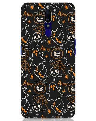 Shop Halloween Doodle Oppo F11 Mobile Cover-Front