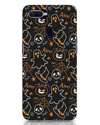 Shop Halloween Doodle Oppo F9 Pro Mobile Cover-Front