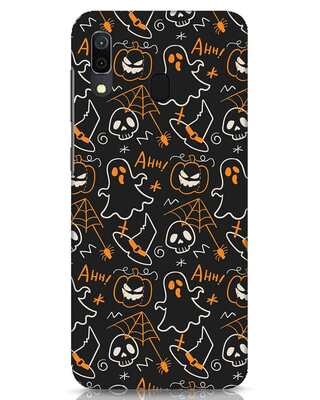 Shop Halloween Doodle Samsung Galaxy A30 Mobile Cover-Front