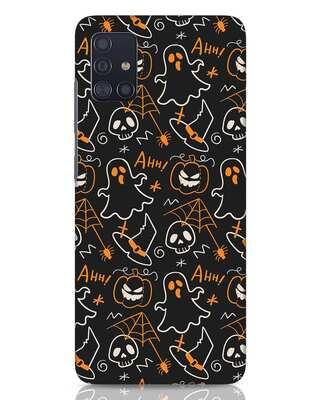 Shop Halloween Doodle Samsung Galaxy A51 Mobile Cover-Front