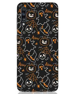 Shop Halloween Doodle Samsung Galaxy A70 Mobile Cover-Front