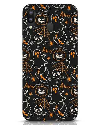 Shop Halloween Doodle Samsung Galaxy M20 Mobile Cover-Front