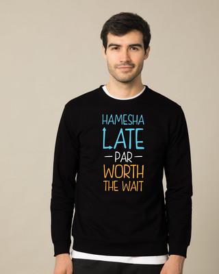 Shop Hamesha Late Fleece Sweater-Front
