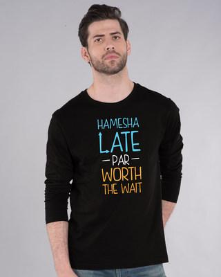 Shop Hamesha Late Full Sleeve T-Shirt-Front