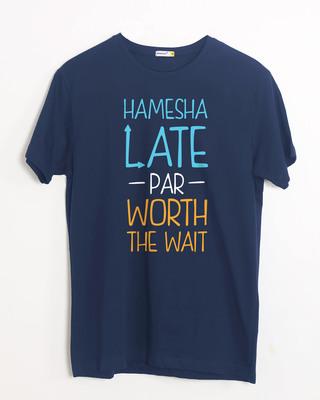 Shop Hamesha Late Half Sleeve T-Shirt-Front