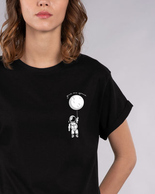 Shop Hanging Astronaut Pocket Boyfriend T-Shirt-Front