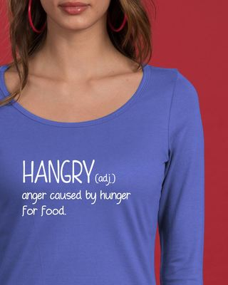 Shop Hangry Scoop Neck Full Sleeve T-Shirt-Front