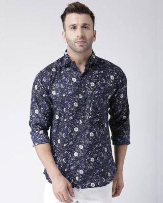 Shop Hangup Printed Casual Daily Wear Shirt-Front