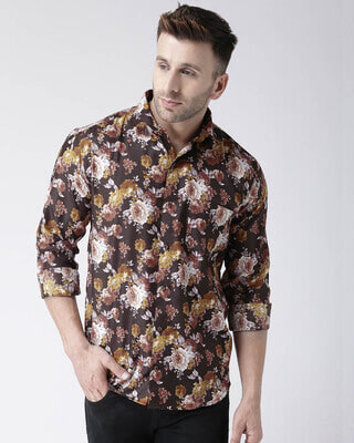 Shop Hangup Printed Casual Daily Wear Shirt-Front