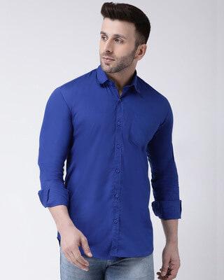 Shop Hangup Solid Casual Shirt-Front