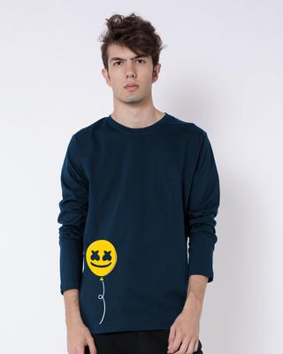 Shop Happier Balloon Full Sleeve T-Shirt-Front