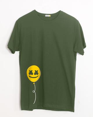 Shop Happier Balloon Half Sleeve T-Shirt-Front