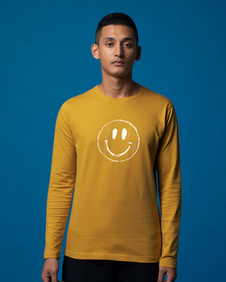 Shop Happier Full Sleeve T-Shirt-Front