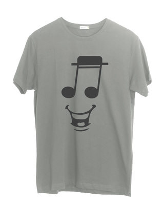 Shop Happy Note Half Sleeve T-Shirt-Front