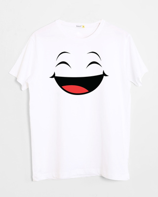 Shop Happy Shappy Half Sleeve T-Shirt-Front