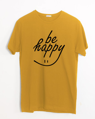 Shop Happy Smiley Half Sleeve T-Shirt-Front