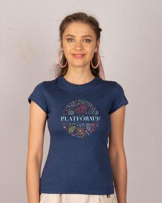 Shop Harry Platform Doodle Half Sleeve T-Shirt-Front