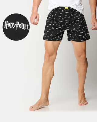 Shop Harry Potter All Over Printed Boxers-Front