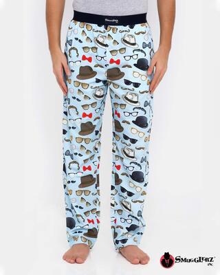 Shop Smugglerz Hat & Glasses Pyjamas Blue-Front