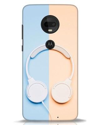 Shop Hazey Headphone Moto G7 Mobile Cover-Front