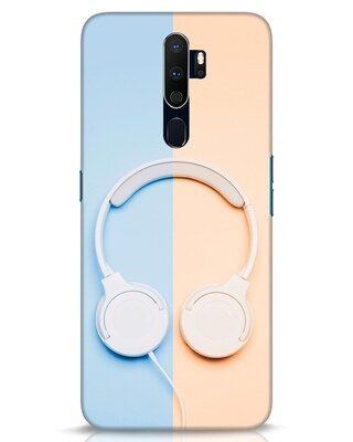 Shop Hazey Headphone Oppo A9 2020 Mobile Cover-Front