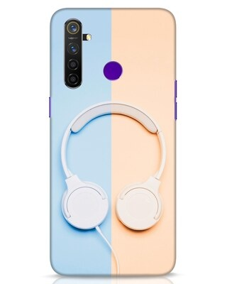 Shop Hazey Headphone Realme 5 Pro Mobile Cover-Front