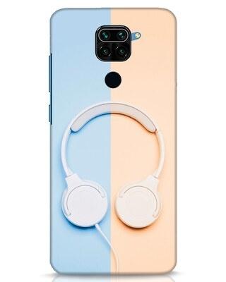 Shop Hazey Headphone Xiaomi Redmi Note 9 Mobile Cover-Front