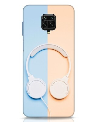 Shop Hazey Headphone Xiaomi Redmi Note 9 Pro Mobile Cover-Front
