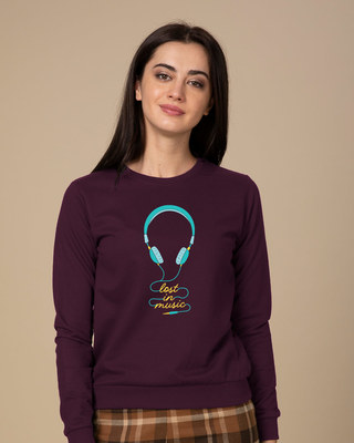 Shop Headphone Music Sweatshirt-Front