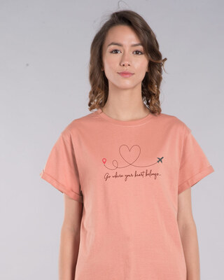 Shop Heart Belongs Boyfriend T-Shirt-Front