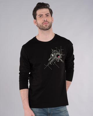 Shop Heart Chip Full Sleeve T-Shirt-Front