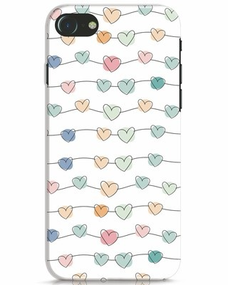 Shop Hearts iPhone 7 Mobile Cover-Front