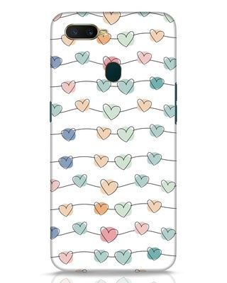 Shop Hearts Oppo A7 Mobile Cover-Front