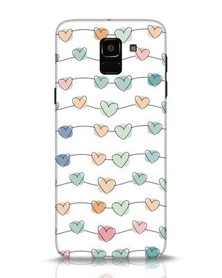 Shop Hearts Samsung Galaxy J6 Mobile Cover-Front