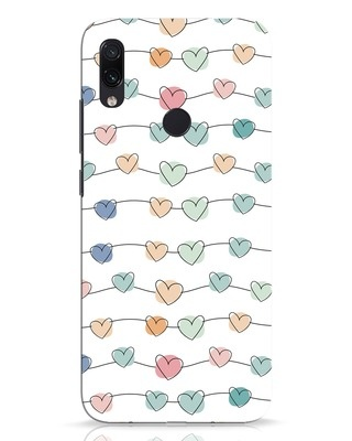 Shop Hearts Xiaomi Redmi Note 7 Pro Mobile Cover-Front