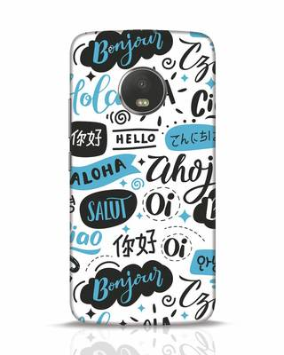Shop Hello Moto G5 Plus Mobile Cover-Front