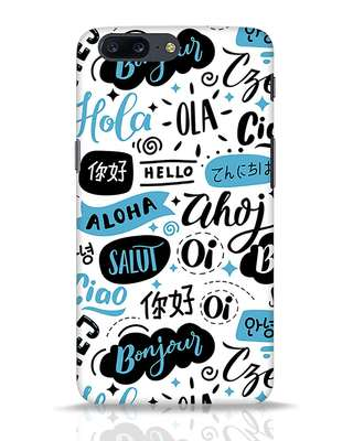 Shop Hello OnePlus 5 Mobile Cover-Front