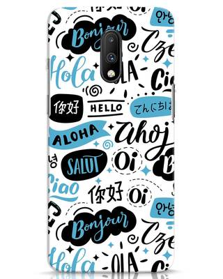 Shop Hello OnePlus 7 Mobile Cover-Front