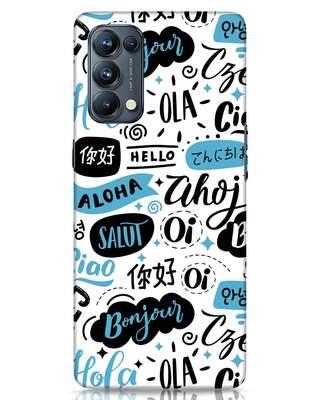 Shop Hello Oppo Reno 5 Pro Mobile Cover-Front