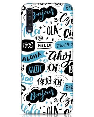 Shop Hello Samsung Galaxy A50 Mobile Cover-Front