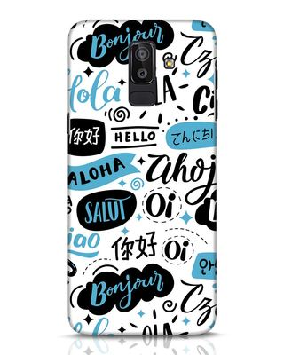 Shop Hello Samsung Galaxy J8 Mobile Cover-Front